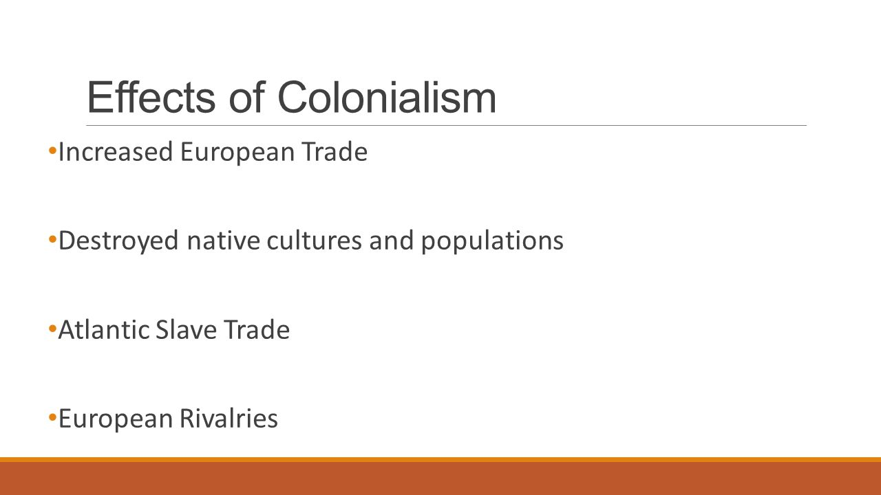 the impact of colonialism The positive and negative impact of colonization in africa - free download as pdf file (pdf), text file (txt) or read online for free ignore the format section for anyone in my geography class that needs it.