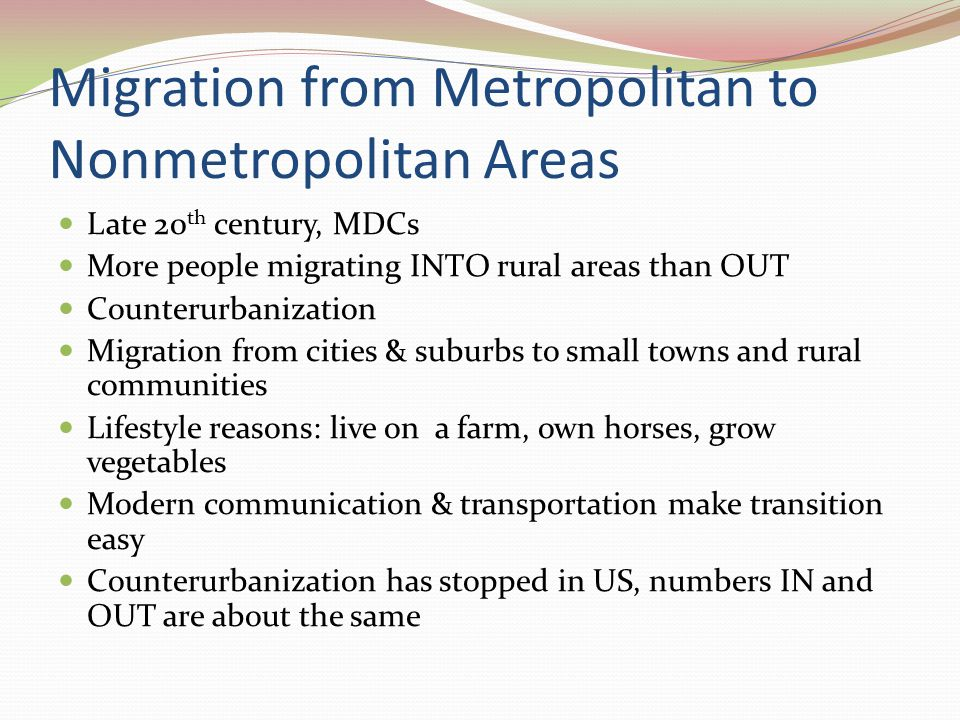 migration city and rural areas essay But in developed countries, people tend to move to rural areas rather than living in urban areas, because the environment in rural areas is nicer than in urban areas which has a lots of industries and many other working things reasons for migration (essay.