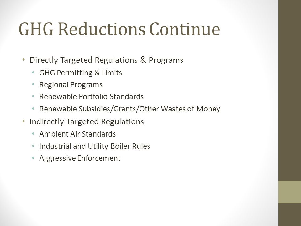 GHG Reductions Continue