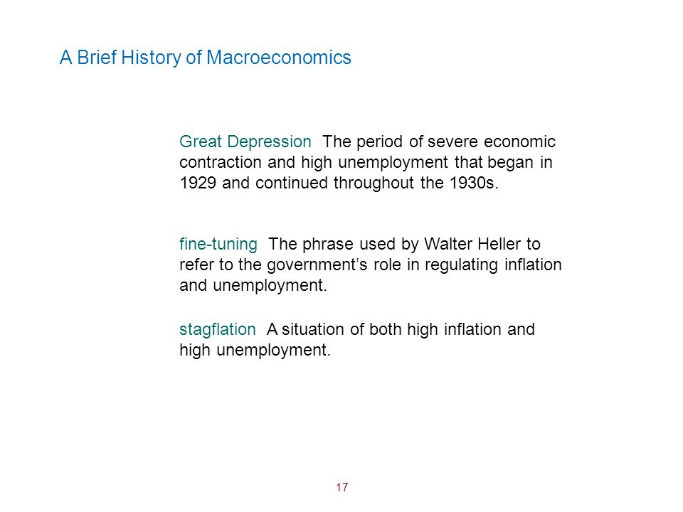 A Brief History of Macroeconomics