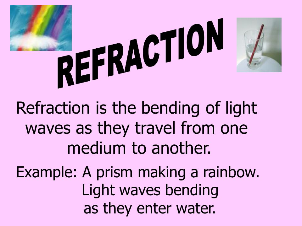 REFRACTION Refraction is the bending of light