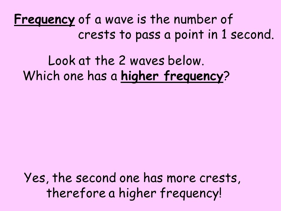 Frequency of a wave is the number of