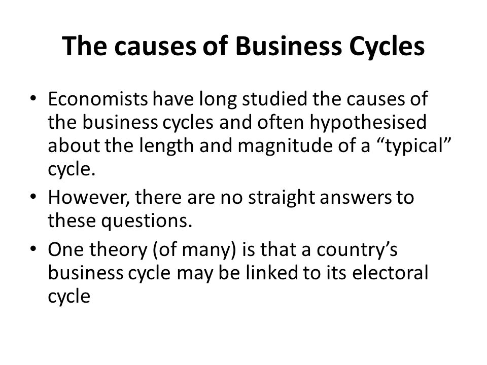 The causes of Business Cycles