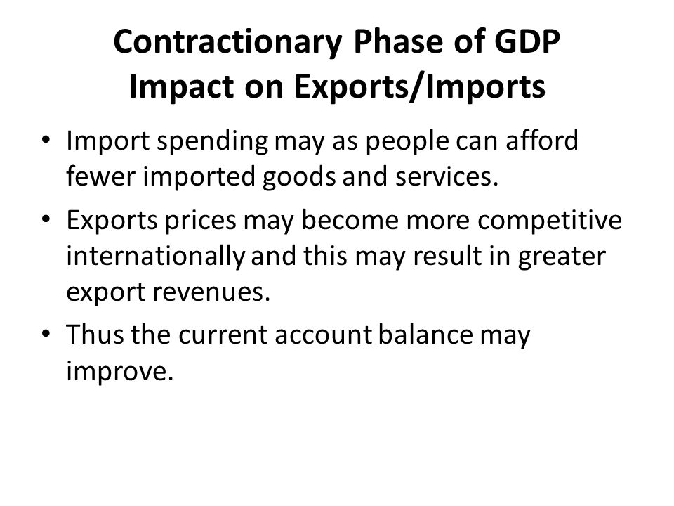 Contractionary Phase of GDP Impact on Exports/Imports