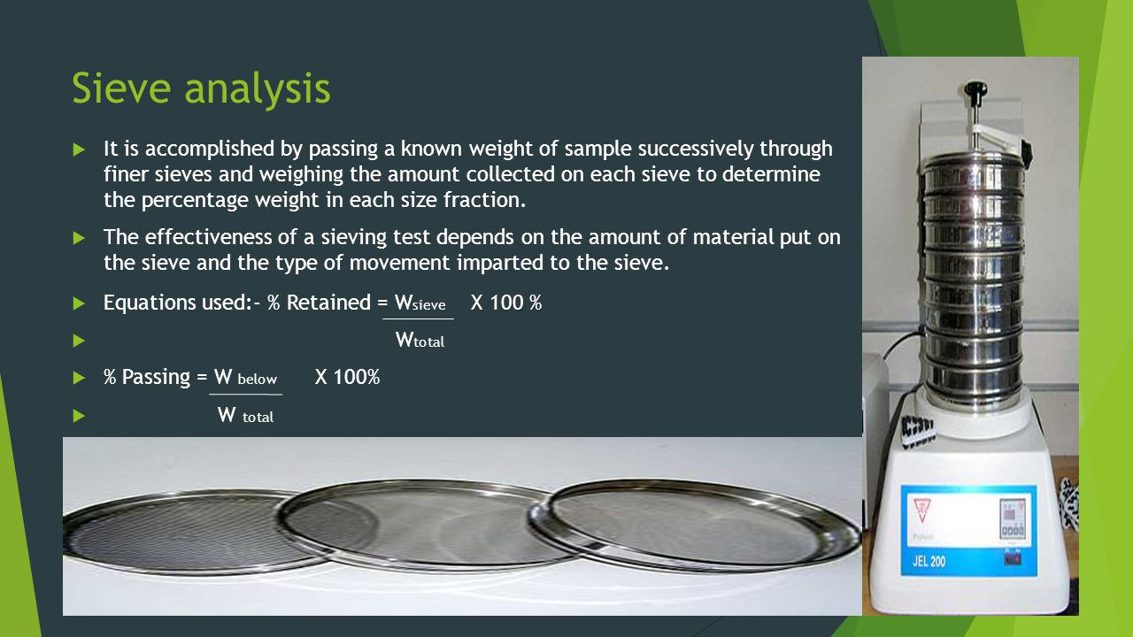 PARTICLE SIZE ANALYSIS - ppt video online download