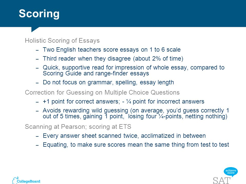 sat writing score essay multiple choice As we said previously, because the sat ii writing test contains an essay as well as multiple-choice questions, calculating your raw score for this test is a little.