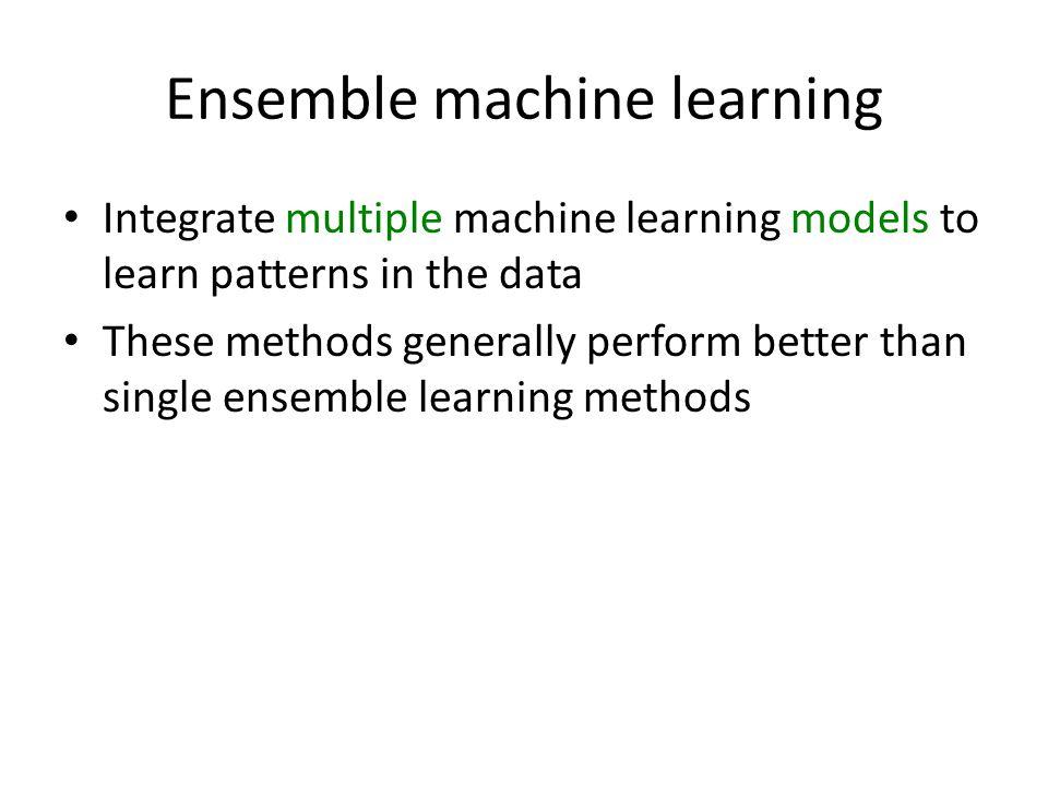ensemble machine learning