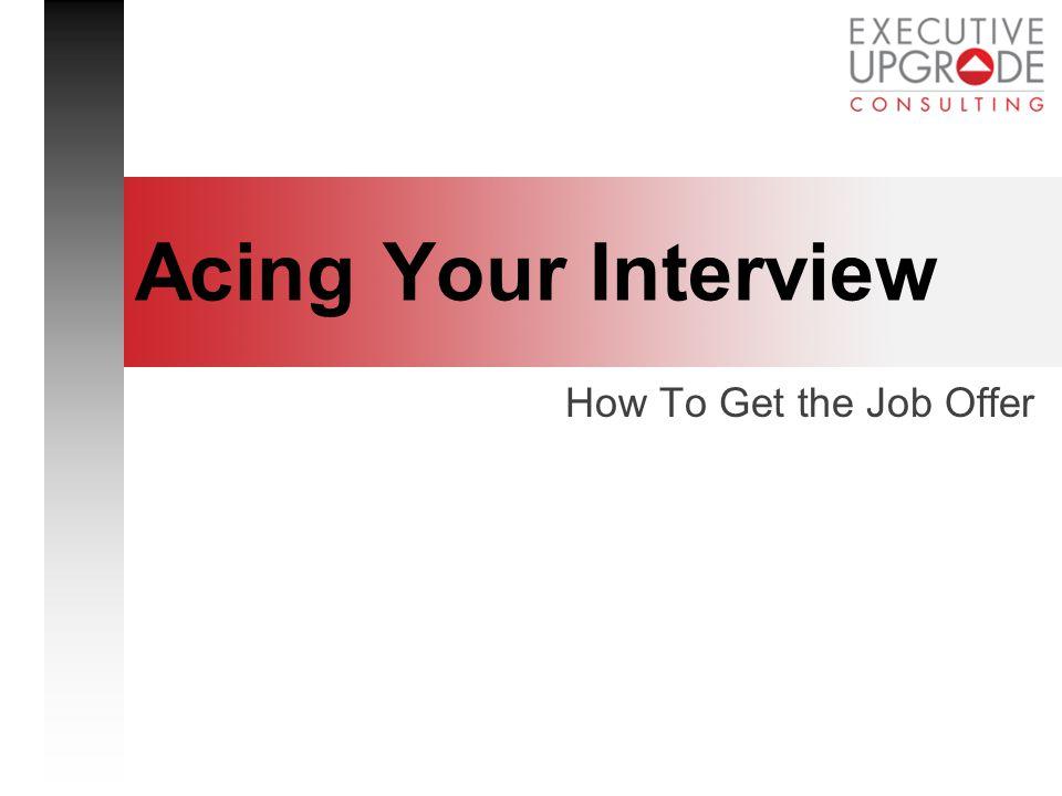 executive interview essay