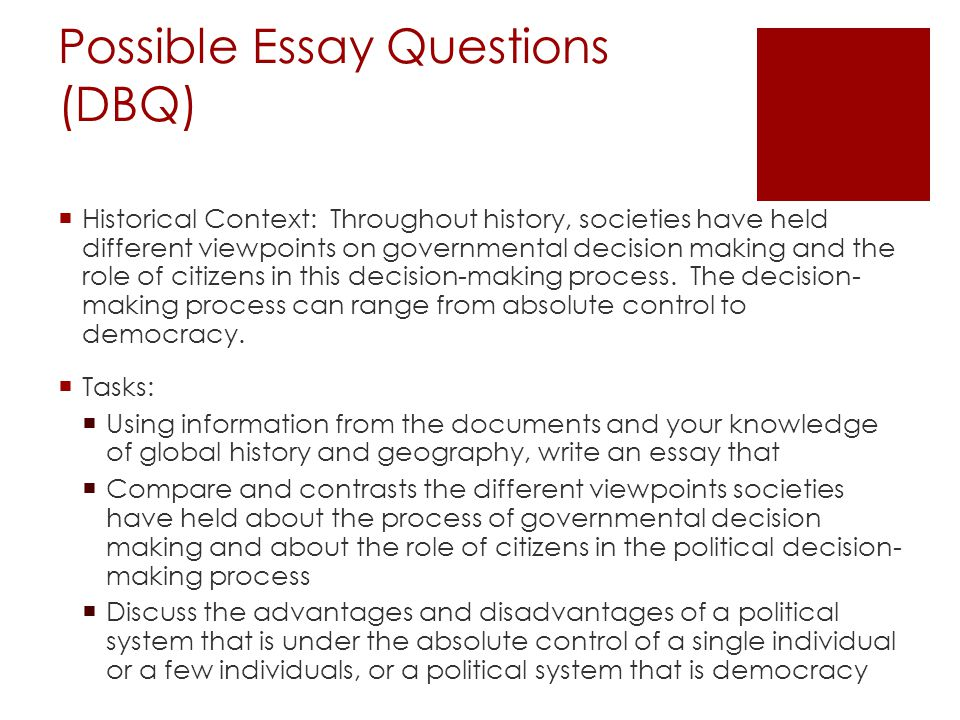 Decision Making Essays (Examples)