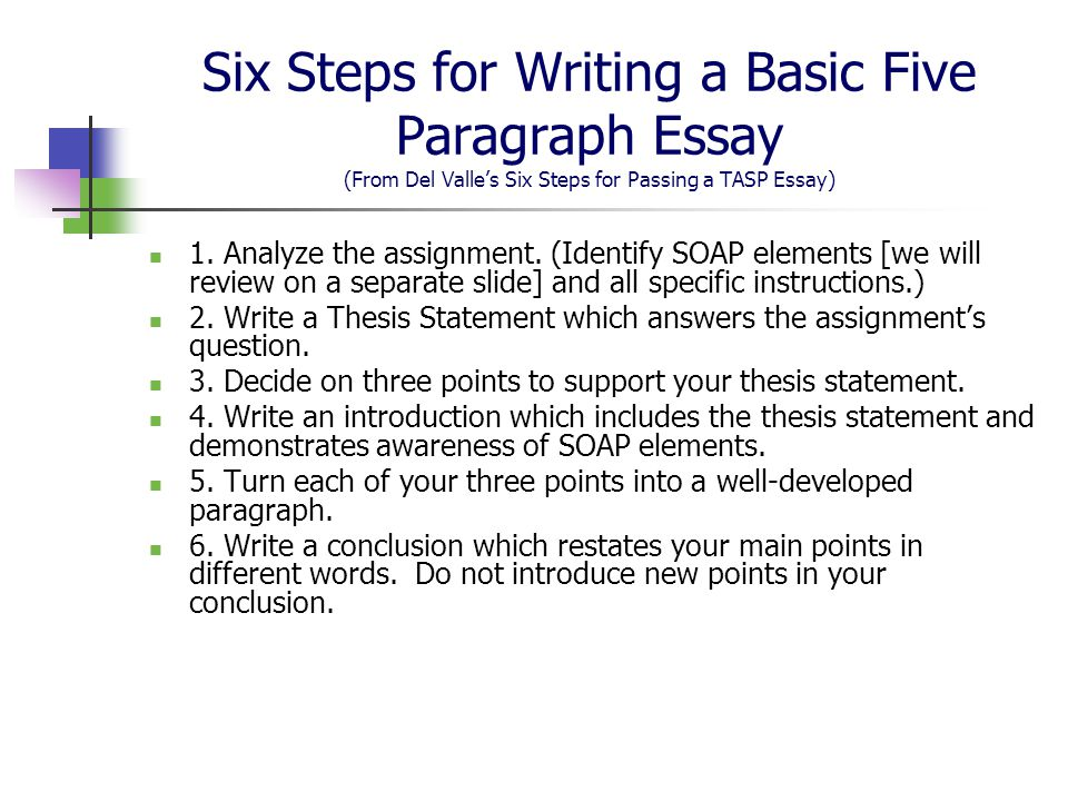 writing essays and instructions