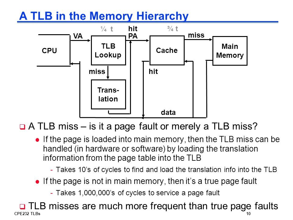 A TLB in the Memory Hierarchy
