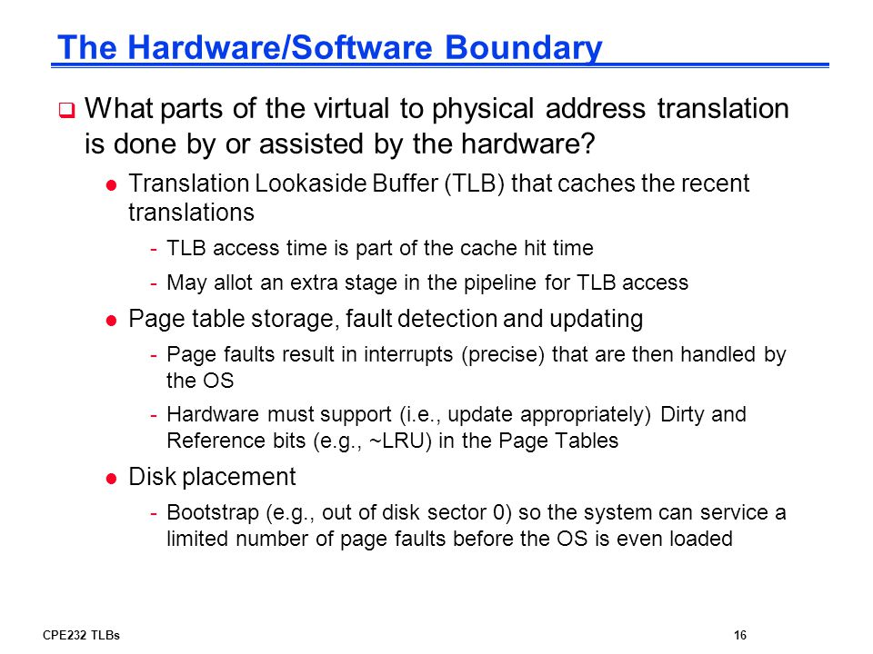 The Hardware/Software Boundary