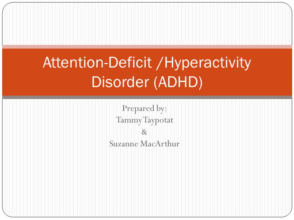 an introduction to attention deficit hyperactivity disorder adhd Printer-friendly version: every year the national information center for children and youth with disabilities (nichcy) receives thousands of requests for information about the education and special needs of children and youth with attention-deficit disorder (adhd, add/adhd.