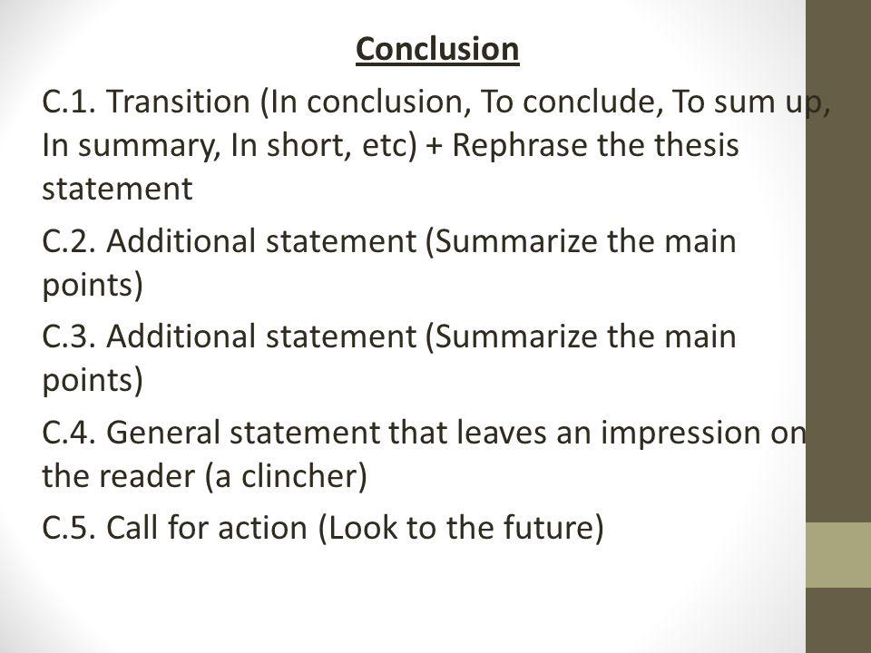 compensation essay main points