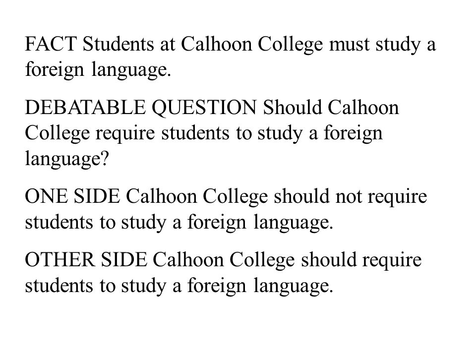 Students Shouldn't Be Required to Take A Foreign Language