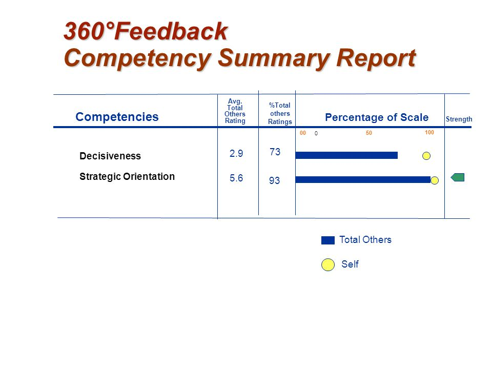 360°Feedback Competency Summary Report