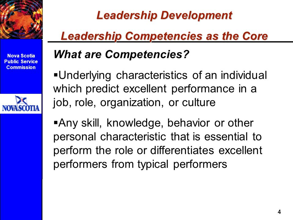 Leadership Development Leadership Competencies as the Core