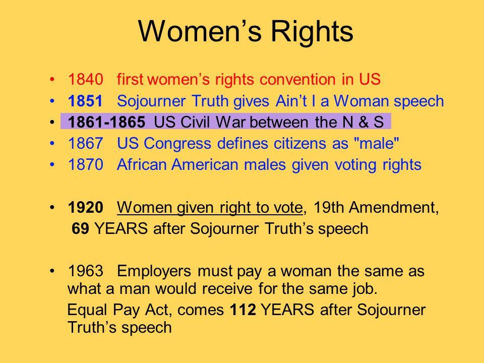 Women's Rights 1840 first women's rights convention in US
