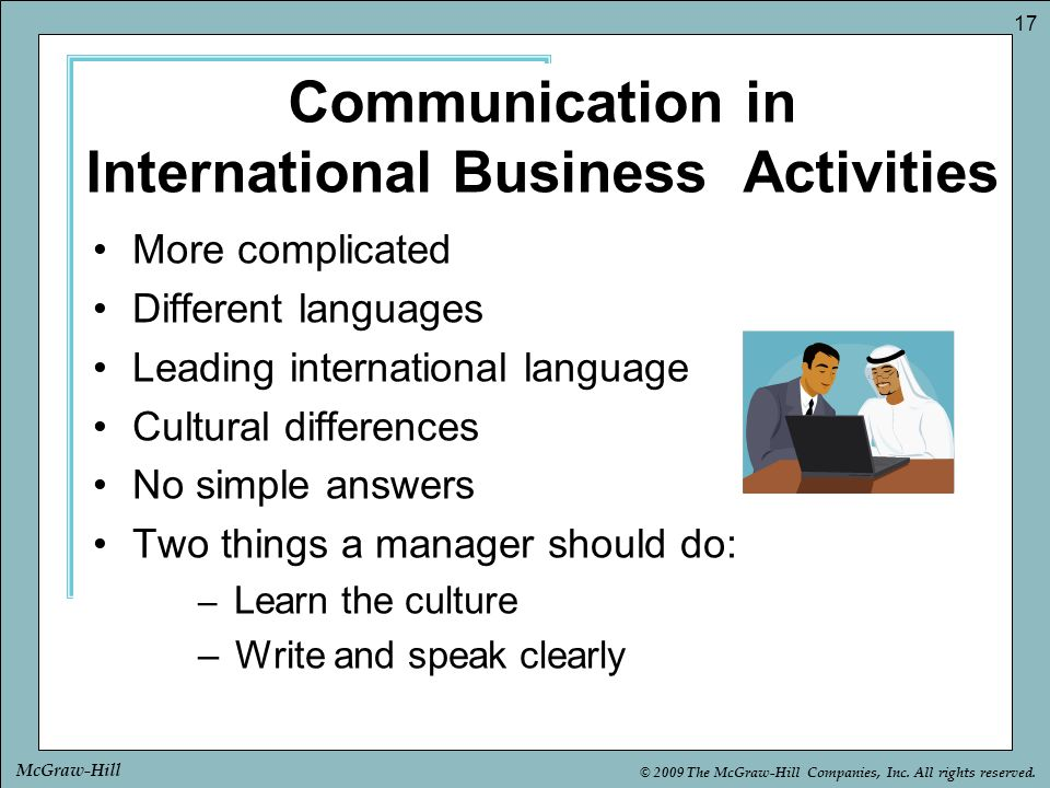 Communication in International Business Activities