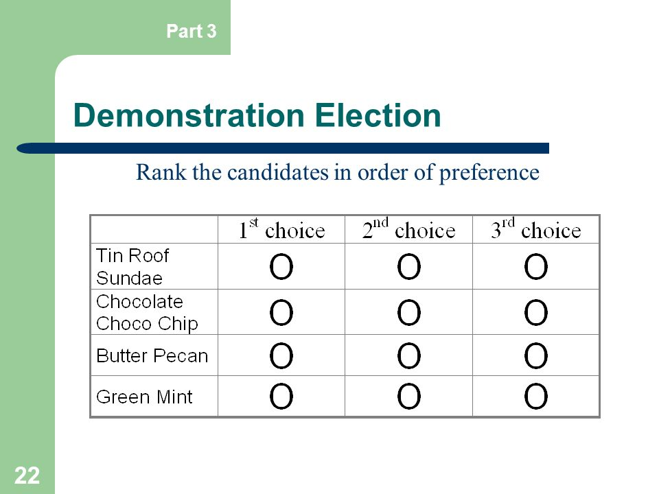 Demonstration Election
