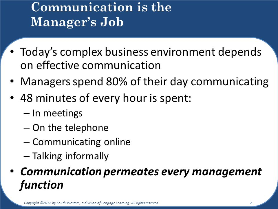 Communication is the Manager's Job