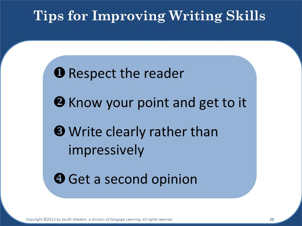 Tips for Improving Writing Skills
