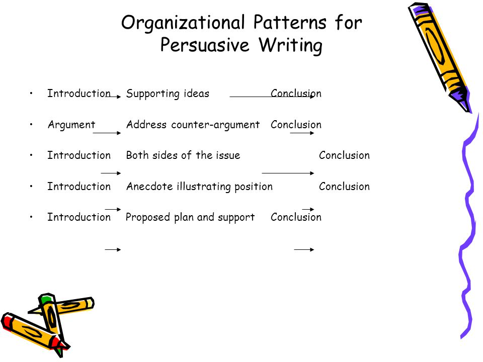 organizational patterns in business writing