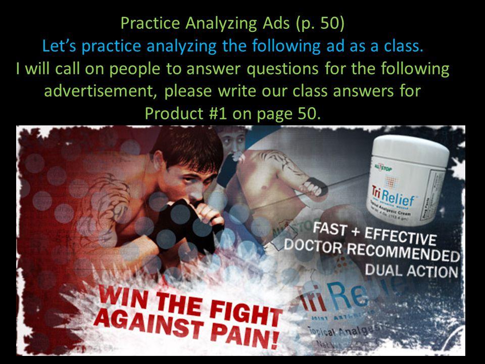 Analyzing An Ad 46