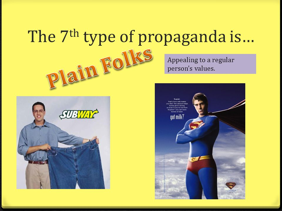 Examples Of Plain Folks Propaganda Persuasive Techniques ...