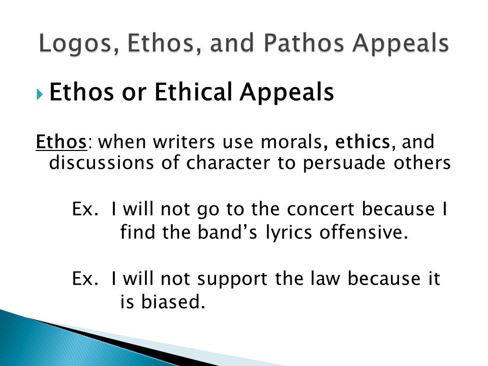 understanding and using logos ethos and Swbat analyze a persuasive advertisement for its use of ethos, pathos, and logos lesson: ethospathoslogos  this can serve as a check for understanding.
