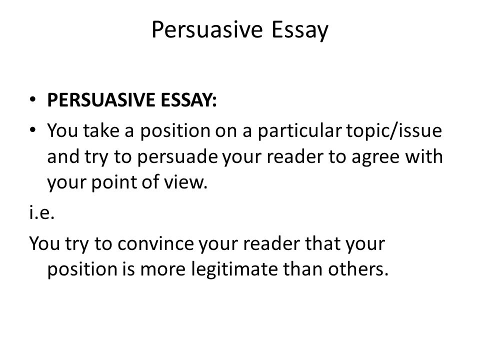 National 5 Persuasive Essay. - Ppt Video Online Download