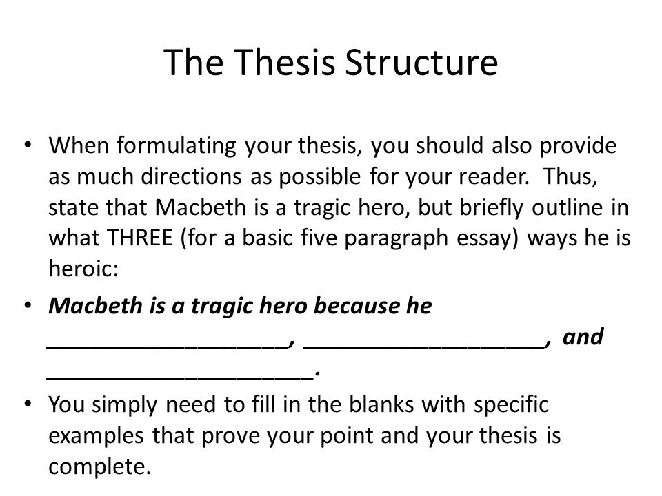 The Thesis Structure