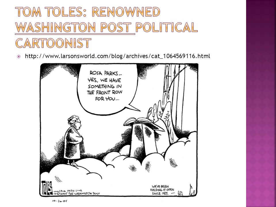 Tom toles: renowned Washington post political cartoonist