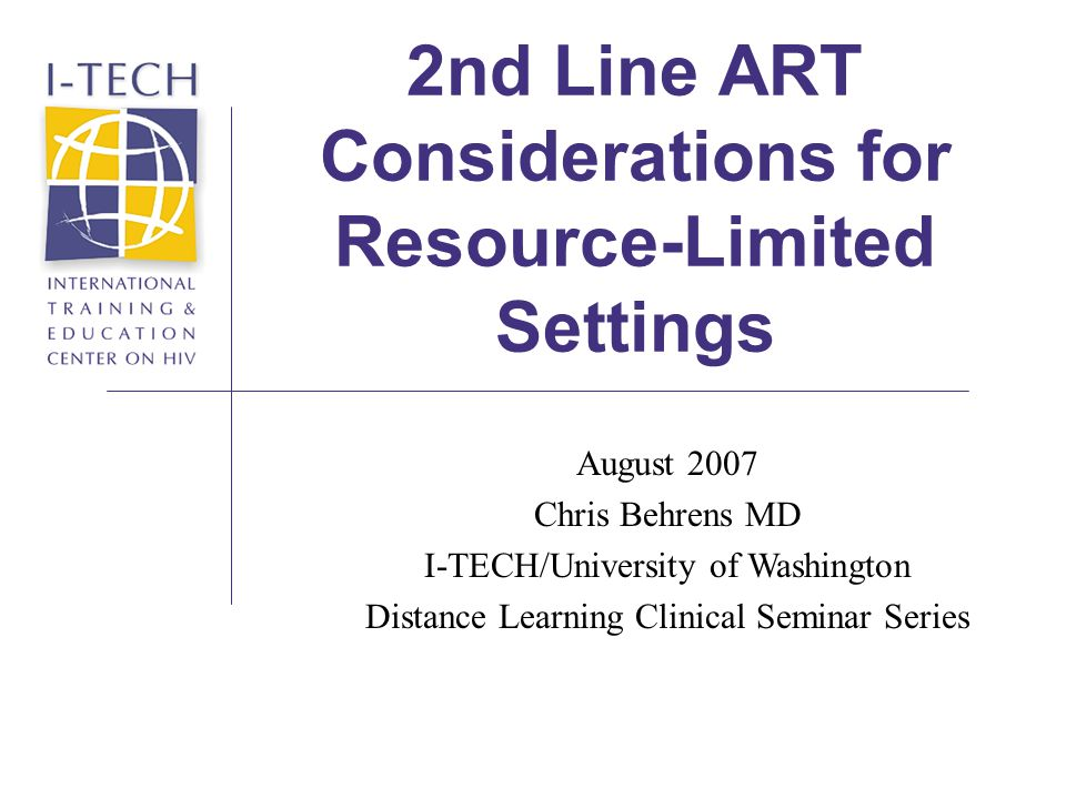 Line Art Limited : Nd line art considerations for resource limited settings