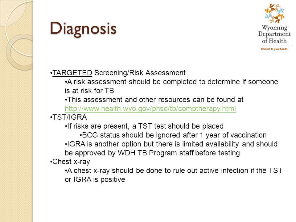Diagnosis TARGETED Screening/Risk Assessment