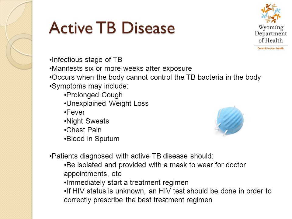 Active TB Disease Infectious stage of TB