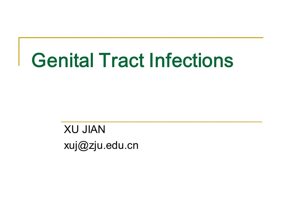 reproductive tract infection symptoms