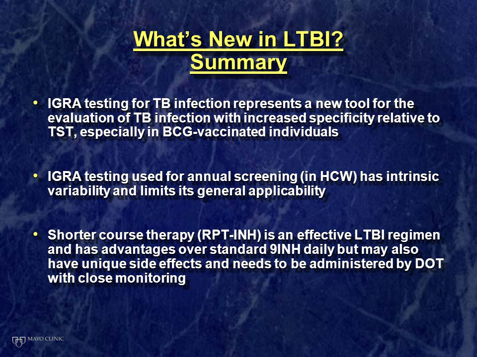 What's New in LTBI Summary