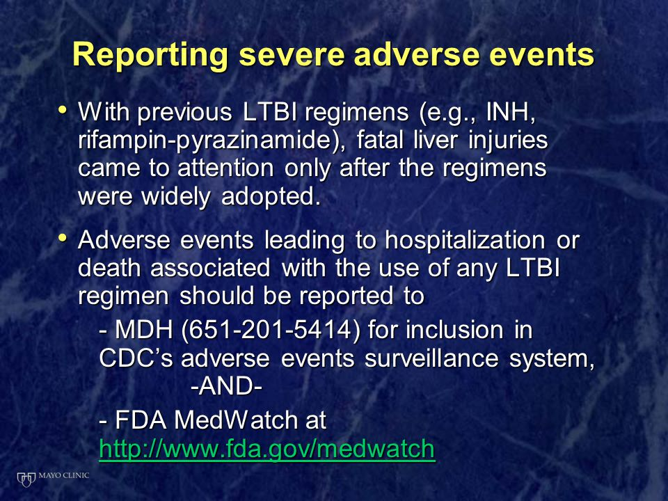 Reporting severe adverse events