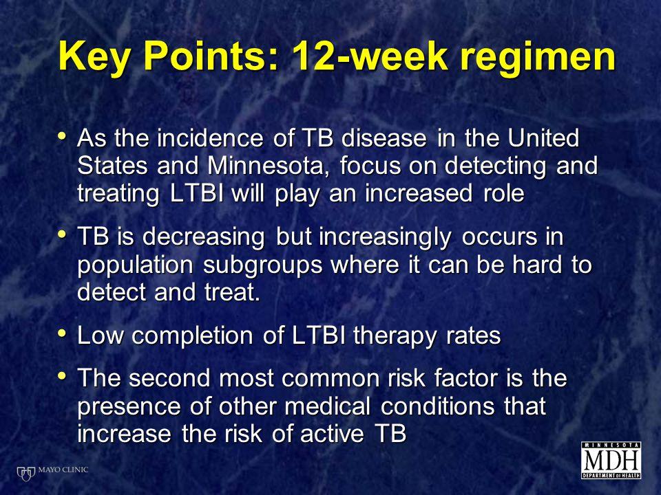 Key Points: 12-week regimen