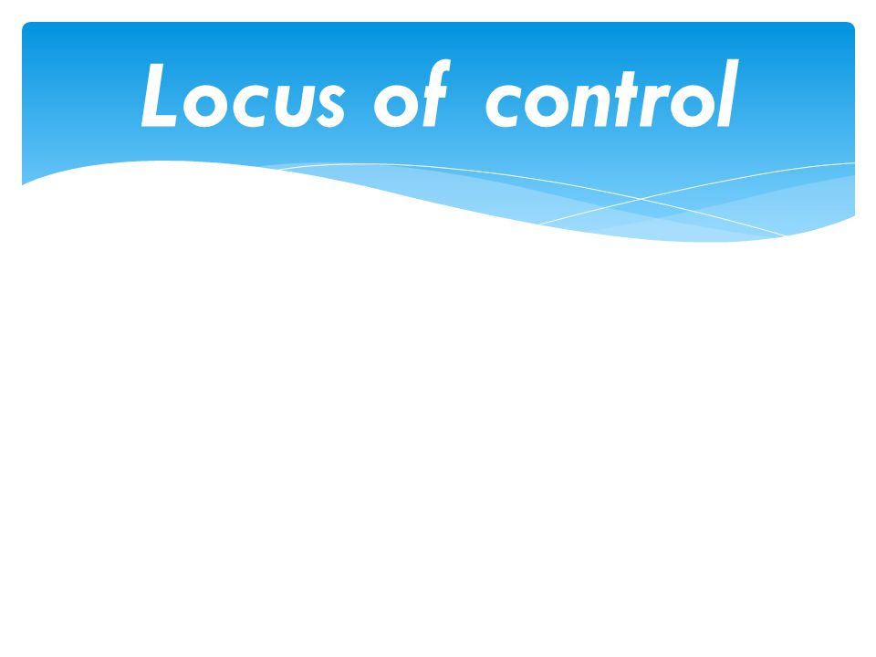 validity of the rotters locus of control scale Rotter's internal-external locus of control scale and maslach burnout inventory  were  ergin (1992) also found that inventory had sufficient structural validity.