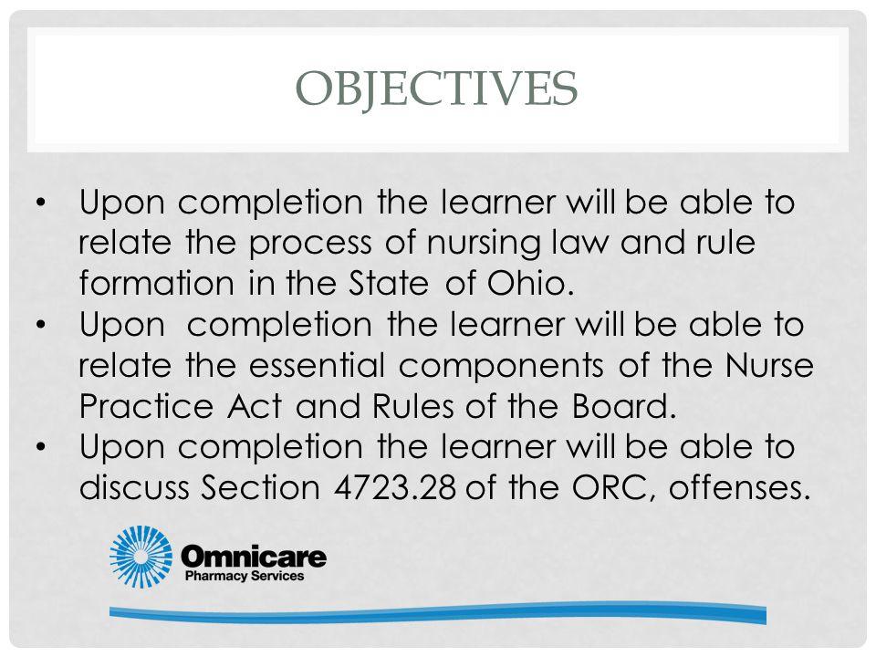 Ohio Nurse Practice Act Amp Rules Of Board Of Nursing Ppt
