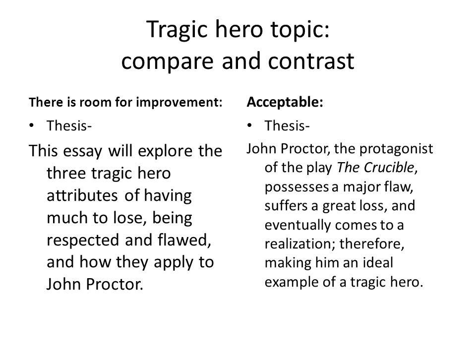 comparing heroes essay Modern and classical hero comparison the classical hero achilles is comparable to the modern hero superman in many ways they are both invincible, they both have one.