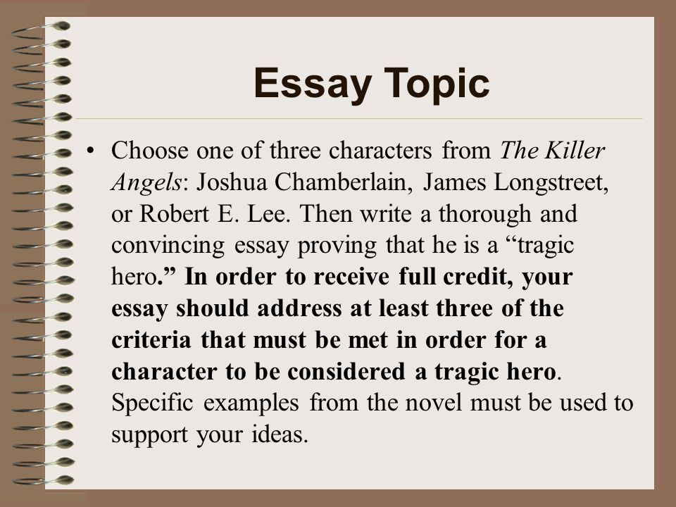 Compare Contrast Essay Papers Killer Angels Compare And Contrast Essay About High School And College also Thesis Essay Example Killer Angels Essay A Modest Proposal Essay