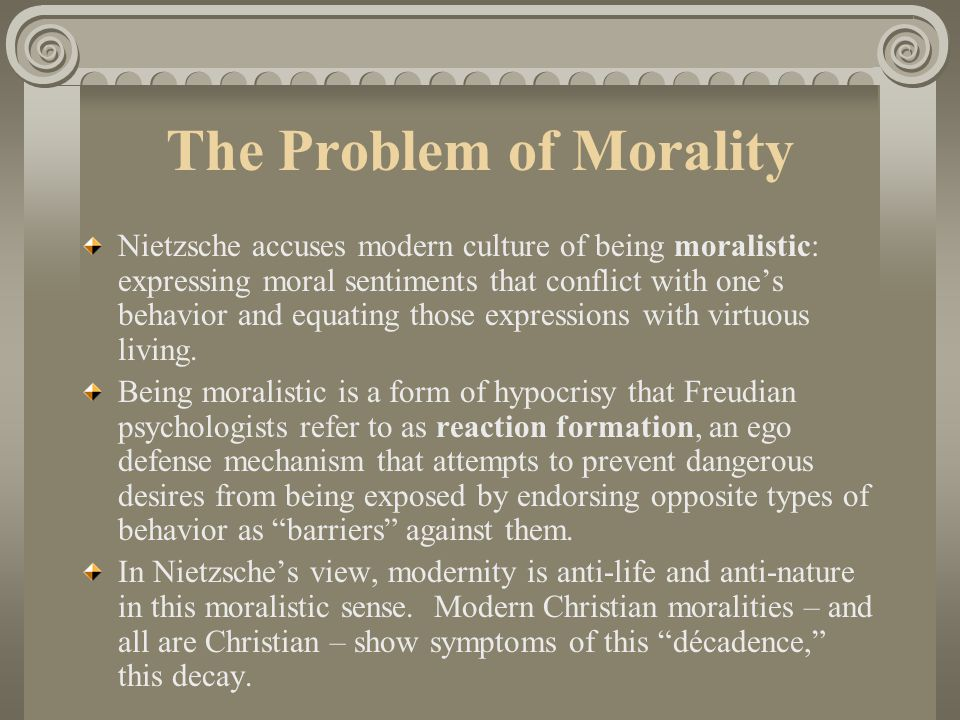 nietzsche morality as anti nature essay In nietzsche's morality as anti-nature the author states that in the christian religion morality is the antagonist to human nature in and of itself and the ways in which it functions upon people.