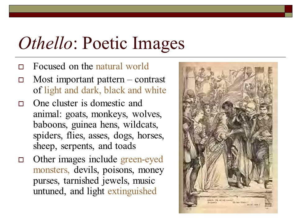 othello animal imagery Read this full essay on othello animal imagery animal imagerymany authors  and play writer have effectively used the comparison of humans and animals.