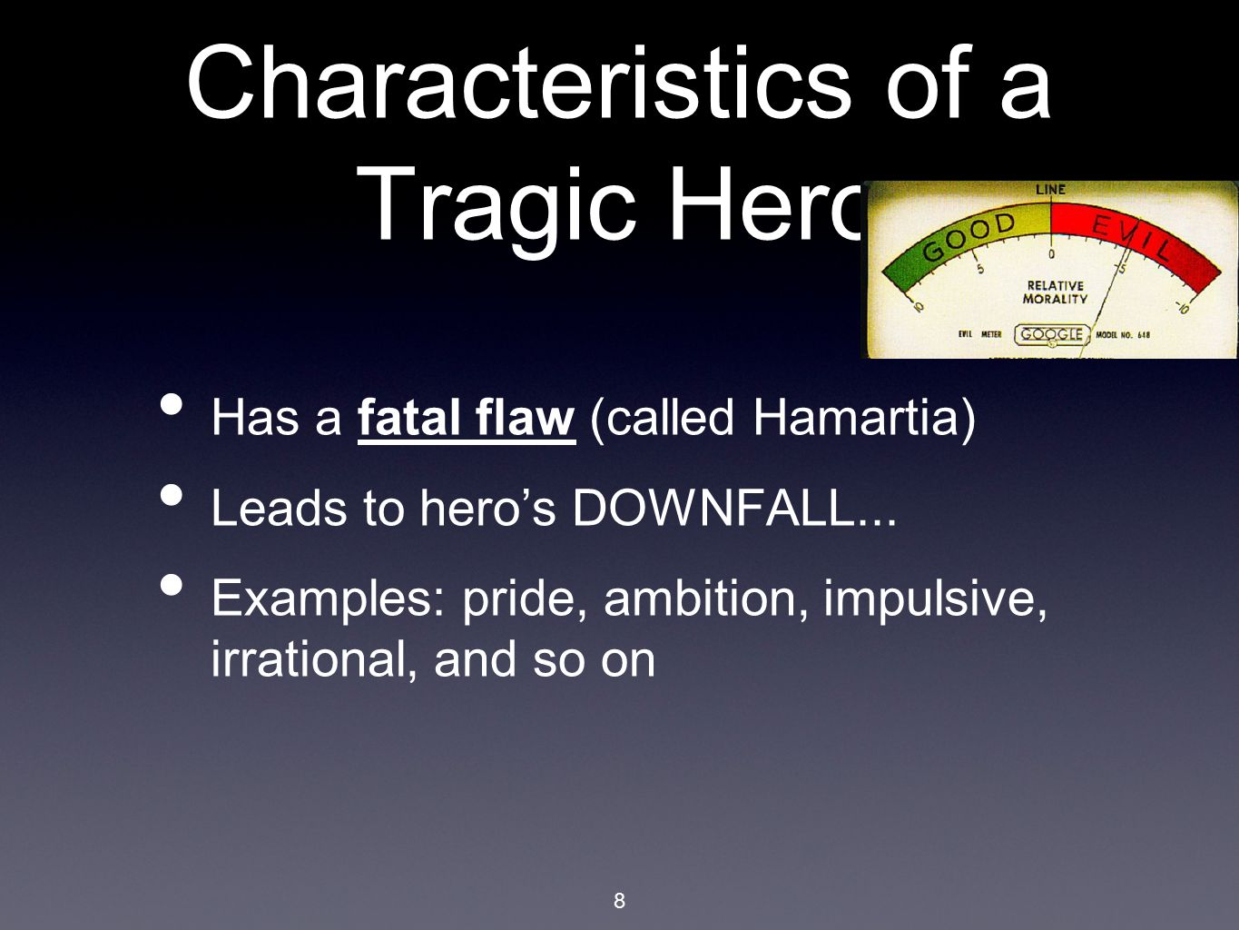 when pride leads to tragedy Pride can be a very pernicious quality in a person this theme is displayed very well by creon, a character in the book antigone and also the tragic hero, whose pride led him to a tragic.