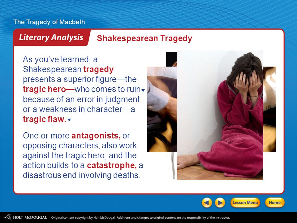 a review of the character of macbeth a shakespearean tragic hero Macbeth navigator is a complete online study guide to shakespeare's macbeth use it to understand the plot, characters, and themes copy quotes for your essay.