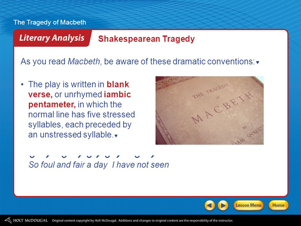 an analysis of the responsibility for the tragedy of shakespeares macbeth