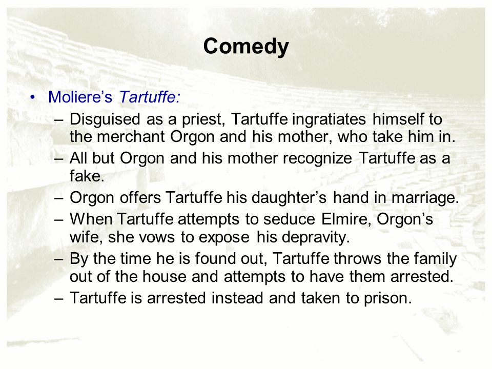 tartuffe society moliere In 1664, moliere's tartuffe was banned from public performance this book provides a detailed, in-depth account of five-year struggle (1664-69).